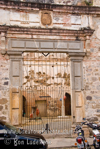 Guatemala Mission Trip - Day 8 - Friday, November 16, 2007<br /> Photo taken while walking down Calle del Arco towards Templo La Merced. Convent of Santa Catalina Martin which is now partially restored to a hotel.  Antigua Guatemala.