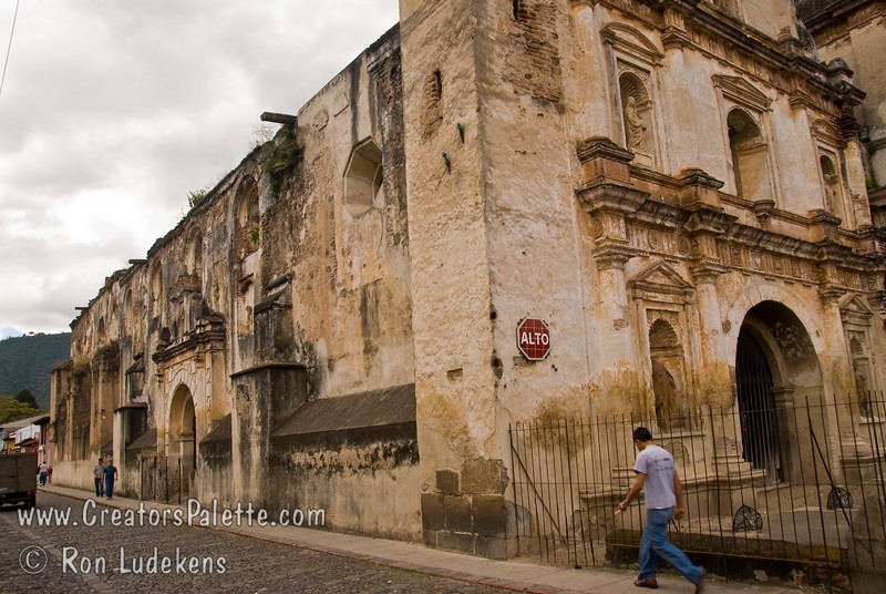 Guatemala Mission Trip - Day 8 - Friday, November 16, 2007 <br /> Ruins of Church of San Agustin in Antigua Guatemala.