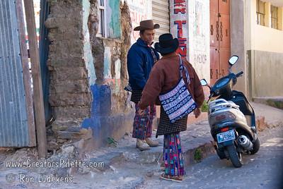 Guatemala Mission Trip - Day 8 - Friday, November 16, 2007    Guatemalan men wearing traditional clothing.
