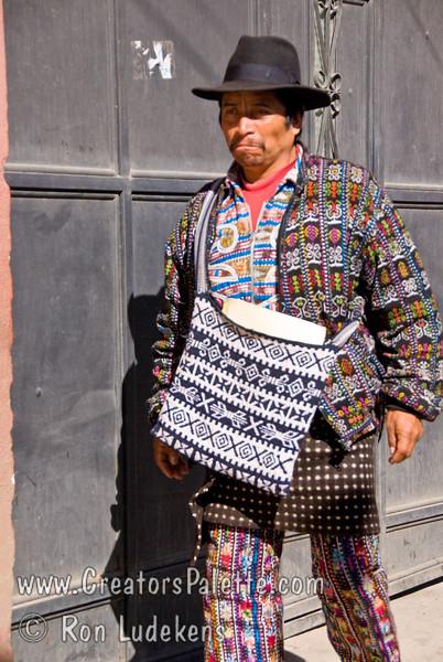 Guatemala Mission Trip - Day 8 - Friday, November 16, 2007   <br /> Guatemalan man wearing traditional clothing.