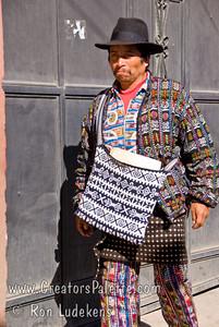 Guatemala Mission Trip - Day 8 - Friday, November 16, 2007    Guatemalan man wearing traditional clothing.