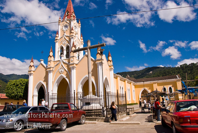 Guatemala Mission Trip - Day 8 - Friday, November 16, 2007   <br /> A church we passed upon entering Antigua Guatemala.
