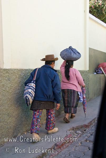 Guatemala Mission Trip - Day 8 - Friday, November 16, 2007 <br /> Guatemalan man adn woman wearing traditional clothing.