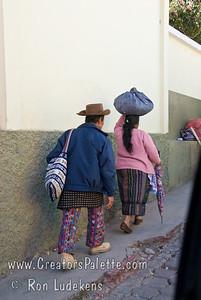 Guatemala Mission Trip - Day 8 - Friday, November 16, 2007  Guatemalan man adn woman wearing traditional clothing.