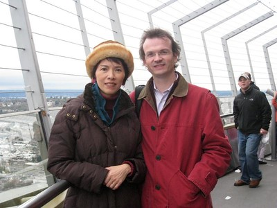November - Observation Deck, Space Needle, Seattle  184.41 m (605.0 ft)