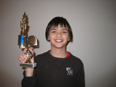 December - John, after getting first place at the Sunnyhill Chess Tournerment, WA