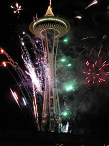 January - Celebrating New Year at the Space Needle