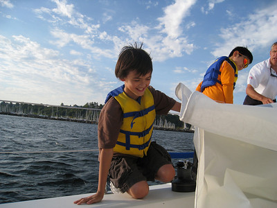 August - Sailing in Elliot Bay, Seattle.