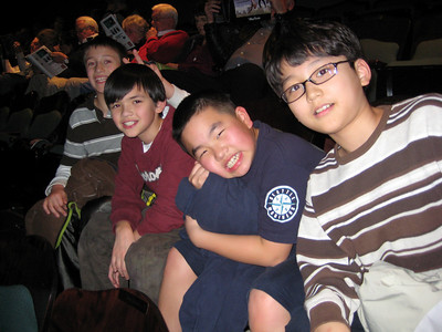 Celebrating birthday party at the theatre (John - Left 2)