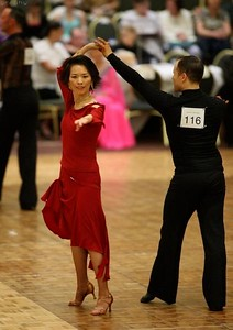 August - Karen's first ballroom dance competition at the Seattle Star Ball 08/08