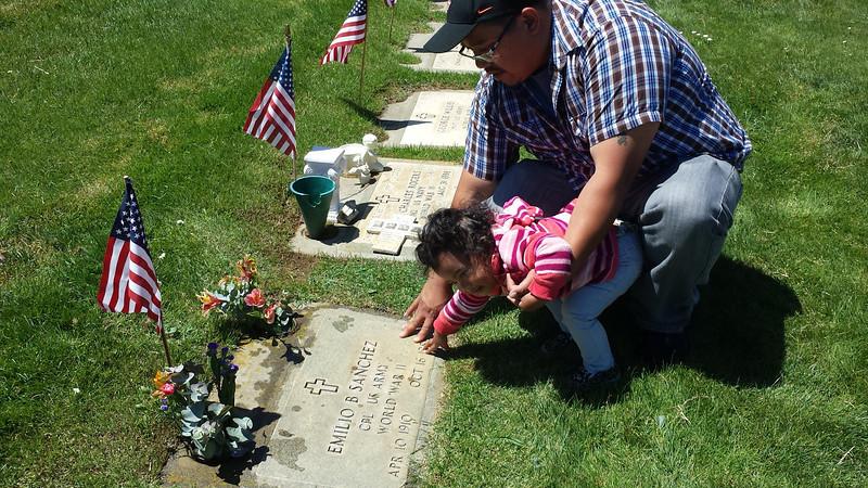 Visiting Grandpa Emilio