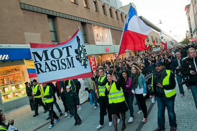 Demonstration mot rasism i Uppsala 2010