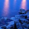Lake Michigan from Michigan City pier<br /> Michigan City, Indiana