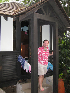 Our Kampung hut on Sentosa