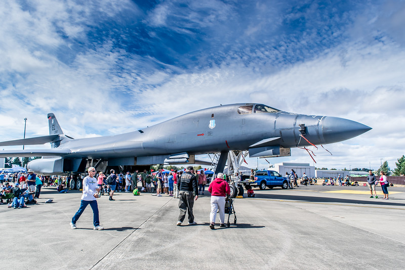 B1b Lance Supersonic Bomber on Display