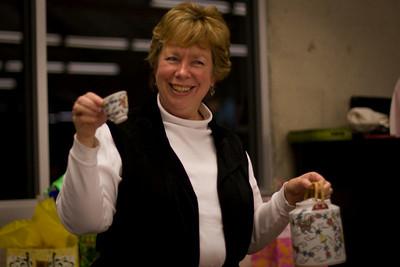 Franc and the tea set