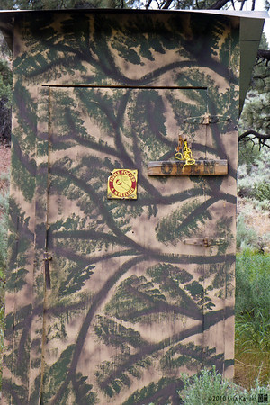 The camouflage outhouse