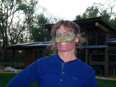 Erin with her war paint.