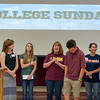 Today we celebrated three graduating students and prayed for their next phase of life in college.