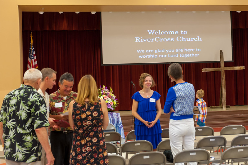 Photo from Grand Opening of RiverCross Church 8-16-2015 at Shannon Ranch Elementary School.