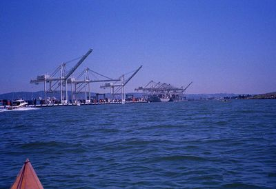 The final leg - the home stretch down the Alameda channel, along all those tall cranes.