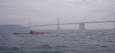 Richard Surosky in front of the Bay Bridge