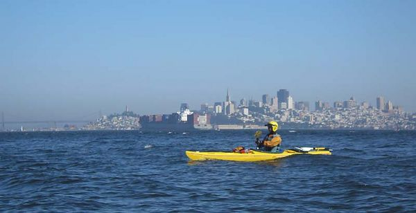 Norm against the SF skyline