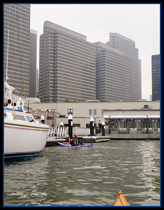 As we arrive at Pier 1 1/2, we see the new dock that welcomes, nay, embraces kayakers!!!