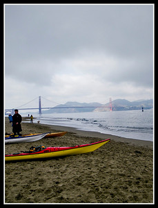 Just a hint of sunlight aimed directly at the north tower welcoming our arrival at Crissy field.