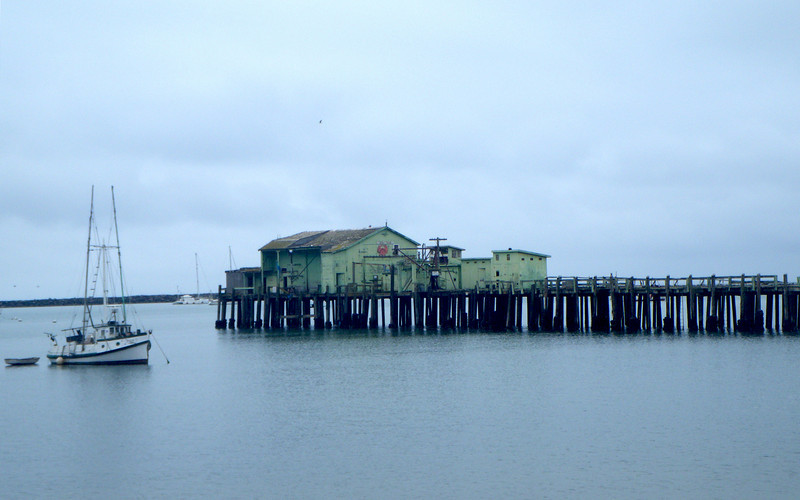The fish shack out on the pier.