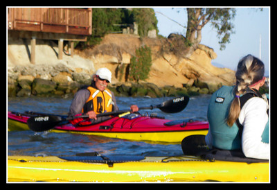 Handholding a camera in a wind-driven, rocking, kayak.  Rich & Fran