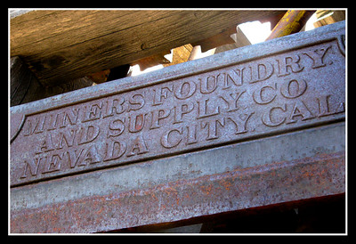Cast at the Miner's Foundry in Nevada City - now the home of KVMR independent radio and a venue for events.