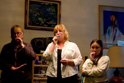 The kazoo reprise. Joy, Melanie & Clara-Sophia