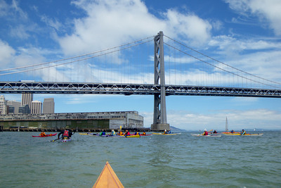 Our first rendezvous point at Pier 26, before going under the Bay Bridge.
