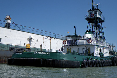 "This working tug had an ownership change, and so went through a name change from the ""Defiant"" to ""Pt. Fermin"", and city from ""Los Angeles"" to ""San Francisco"".  The guys working on it were nice and answered all sorts of geeky questions."