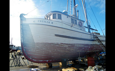 The Cecilia B gets a little plastic surgery on her bottom.