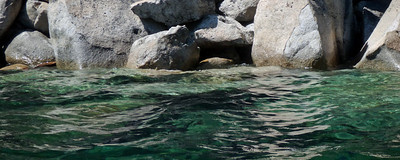 Tahoe water and granite.