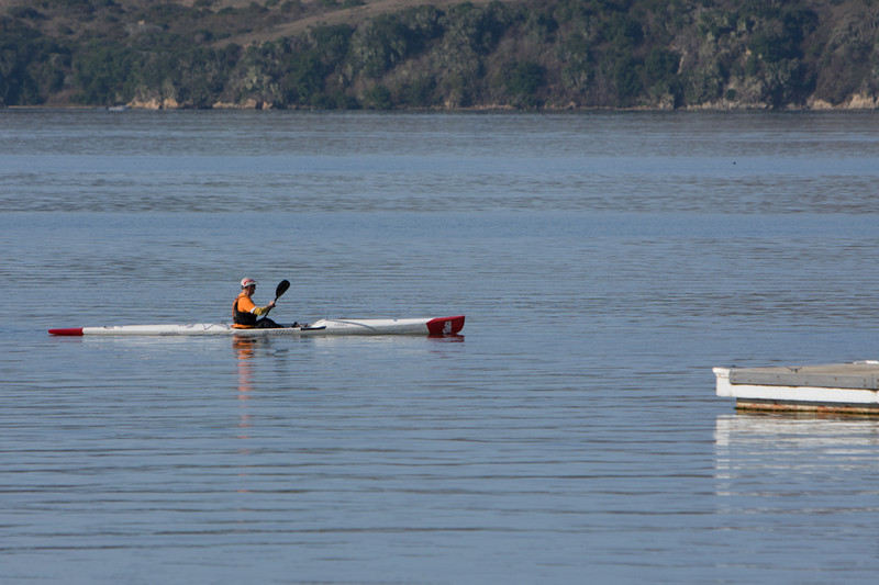 Patrick Campbell was already out for his morning paddle - i dare anyone to keep up.