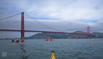 The conditions were perfect for heading out the south end of the Golden Gate - a first for me.  We had a good ebb to whisk us through.