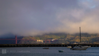 Sunrise on the Marin Headlands and the morning after a fabulous 75th birthday bash.