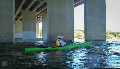 This is the Watt Avenue bridge.  Last fall, a new kayaker in an inflatable kayak got wrapped against one of the piers.  It was an accident that really should not have happened.