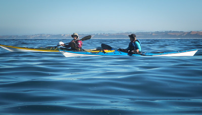 While 50 miles north, Mavericks was going on, we enjoyed friendly seas.  Cindy and Monica