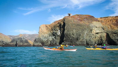 An old bunker protects Bird Rock from encroaching kayakers.