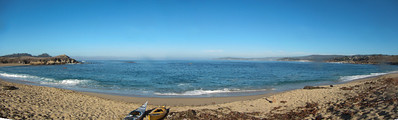 Monastery Beach is playing nice this morning.