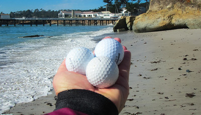 Pebble Beach pebbles.
