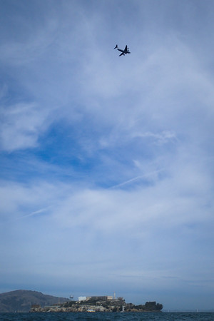 The Air Force was out on a scenic tour - this plane looped around several times.