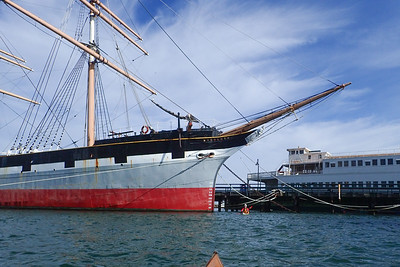Sneaking past the Balclutha.