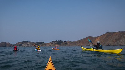 Perfect conditions to nose into Point Bonita cove.