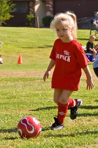 Visalia Youth Soccer for Pre-Kindergarten Ages Wolfpack vs Buckeyes 9-15-2007