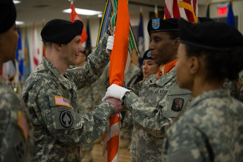 56th Signal Battalion Change of command ceremony.<br /> Sam Houston Comunity Center.